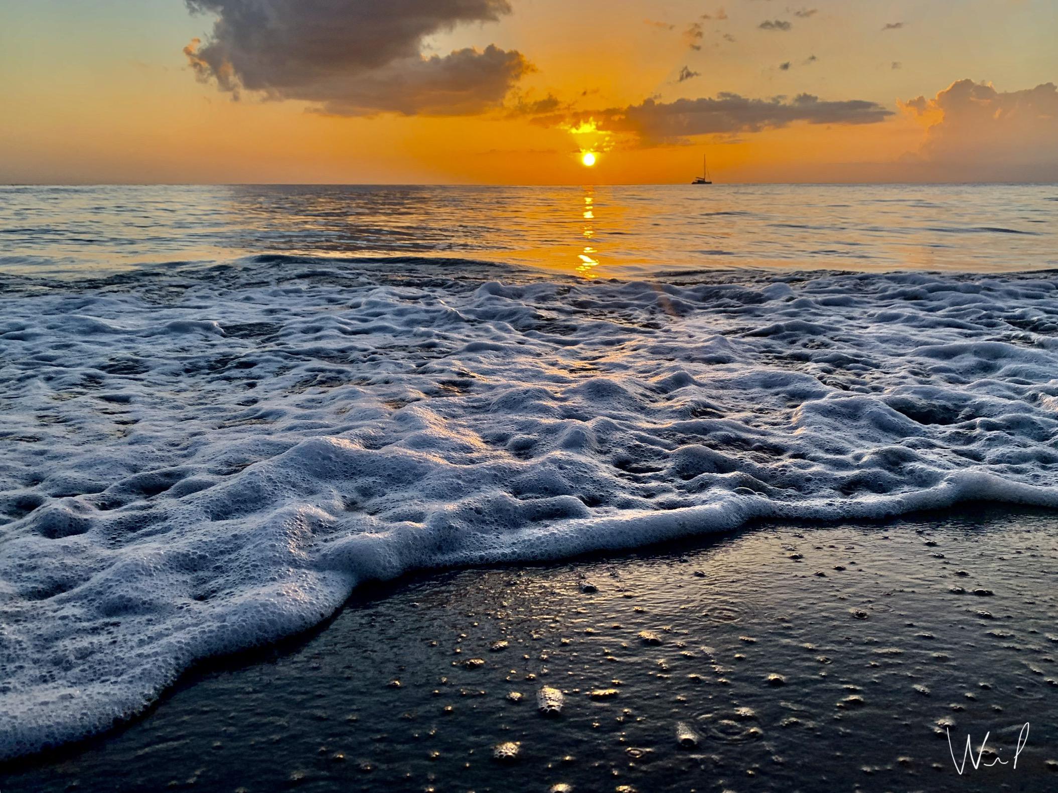 coucher de soleil plage martinique